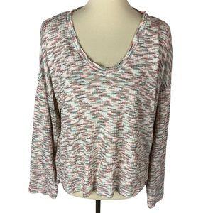 Nordstrom Code X Mode Multicolor Acrylic Sweater